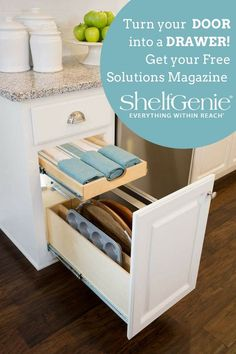 Check out all the ways you can improve your cabinets storage, access, and organization!