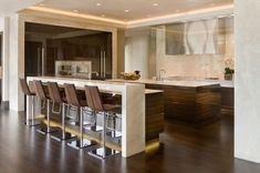 Modern Kitchen Stools Ideas : Contemporary Kitchen Modern Bar Stools Luxury Home With View Kitchen Bar Design, Stools For Kitchen Island, Home Decor Kitchen, Kitchen Ideas, Island Stools, Counter Design, Kitchen Layout, Kitchen Designs, Interior Design Kitchen