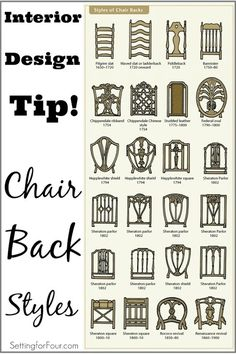 Marvelous Design And Decor Tip: Chair Back Styles