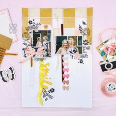 Smile Scrapbooking Layouts, Scrapbook Pages, Sweet Stories, Clear Stickers, Wedding Scrapbook, Wedding Album, Paper Roses, Scrapbooks, Bows