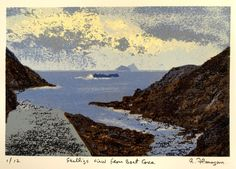 Skellig View From Boat Cove, Kerry by Aidan Flanagan on ArtClick.ie Irish Landscape Art Landscape Prints, Landscape Art, Landscape Paintings, Landscapes, Irish Landscape, Irish Art, Sea Art, Seascape Paintings, Screen Printing
