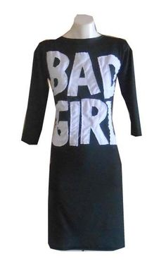 HARAH DESIGNS  BAD GIRL BODY CON STRETCH DRESS FITTED PARTY MOD MINI KNEE LENGTH