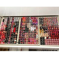 Someday I will have a lipstick drawer like this!