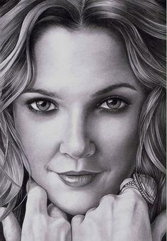 Drew Barrymore Drawing by janz2009art