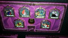 Imagination Pin Gala event, Quotes Pin Set, Zurg, Jessica Rabbit, Lilo and Stitch, Ursula, Roz and Grumpy