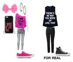 LIES by jsf2004 on Polyvore featuring J Brand, Blue Inc Woman and Converse