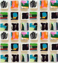Original arte de la pared de bloques de madera pintado |  Pintura Abstracta Escultura de la pared moderna |  Arte Comercial Instalación