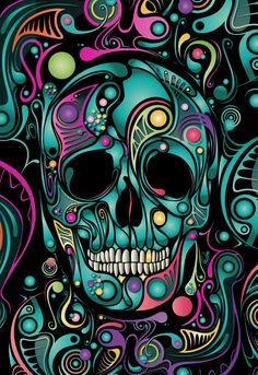 Skull Camouflage Art Print by Dolce Paganne - X-Small Sugar Skull Wallpaper, Sugar Skull Artwork, Image Nice, Bright Colors Art, Graffiti Doodles, Colorful Skulls, Beautiful Dark Art, Skull Pictures, Trippy Wallpaper