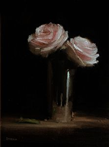 Roses by Neil Carroll Oil ~ 8 x 6