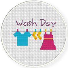 FREE Wash Day Cross Stitch Pattern