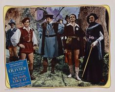 AS YOU LIKE IT 20th Century Fox, 1936.  Directed by Paul Czinner.  Camera:  Hal Rosson.  With Laurence Olivier, Henry Ainley, Felix Aylmer, Stuart Robertson, Leon Quartermaine, Austin Trevor.