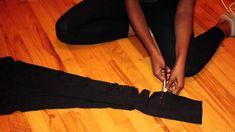 DIY Ripped Leggings | Kendall Jenner Style Leggings