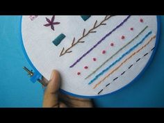 Here's a simple video showing you seven basic (and most common) embroidery…