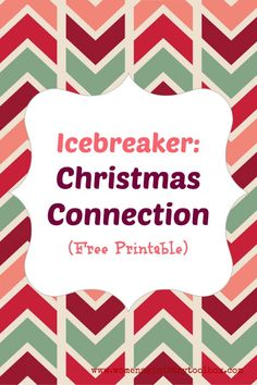 Christmas Connection is a great Christmas icebreaker to use for your Women's Ministry Christmas event. It's a game that is certain to get your group moving and connecting. Christmas Connection Group size: 8 or more Time needed: Approx. 15 minutes (larger groups will likely need more time) Supplies: One copy of Christmas Connection (click to download free PDF) …