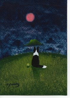 I want to have this artist include Rose into his Border Collie art.  Love it! http://www.etsy.com/shop/ToddYoungArt
