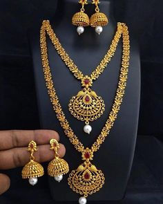 Fulfill a Wedding Tradition with Estate Bridal Jewelry Gold Earrings Designs, Gold Jewellery Design, Necklace Designs, Gold Necklace Simple, Gold Jewelry Simple, Gold Necklaces, Gold Bangles, Silver Jewellery Indian, Fashion Jewelry