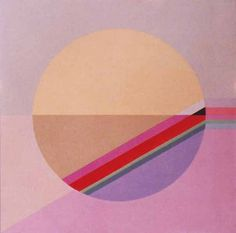 Eugenio Carmi, Cerchio dal rosa, 1982 cm 50x50, acrilici su juta
