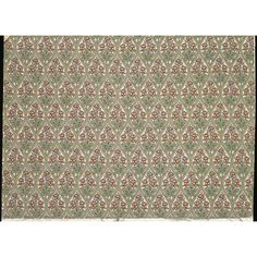 This cotton furnishing fabric was designed by Ronald Simpson, a textile designer and woodworker from Kendal in Cumbria, England. Simpson joined the Carlisle firm of Alexander Morton & Co. in 1908, and produced many designs for their printed ranges, including this example. This fabric has been roller-printed, a method that was patented in 1783, and came to be used on a large scale in the 19th and 20th centuries as a quick patterning technique....