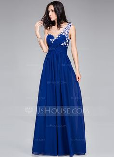 Prom Dresses - $124.99 - A-Line/Princess One-Shoulder Floor-Length Chiffon Tulle Prom Dress With Ruffle Lace (018044999) http://jjshouse.com/A-Line-Princess-One-Shoulder-Floor-Length-Chiffon-Tulle-Prom-Dress-With-Ruffle-Lace-018044999-g44999