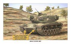 Custom M60A1 Patton MBT S/N Print
