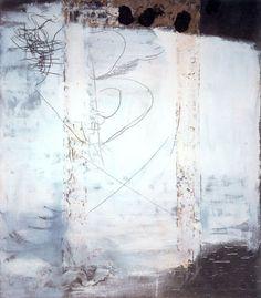 Antoni Tápies Blanco y Grafismos. 1957. Técnica mixta sobre tela. 195 x 175 cm. VIA MORE