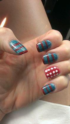 July 4th nails!!
