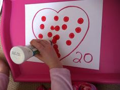 Easy heart for stamping. Great for counting and number recognition.