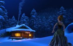 """Meanwhile, Anna gets thrown by her horse and is left stranded in the woods. 