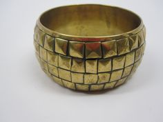 "(Vintage Chunky Goldtone Brass  Bangle via Etsy) the related yin yang personality/color/style systems have similar jewelry recommendations. angela wright's the beginner's guide to colour psychology recommendatios for jewelry for for #type3/ #autumn includes = ""brass"" & ""chunky"""