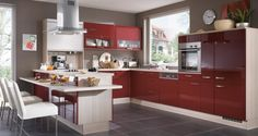 Červená kuchyň inspirace