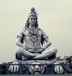 Lord Shiva's statue in Rishikesh. Parmarth Ashram.