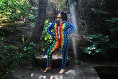 Colorful #crochet onesie