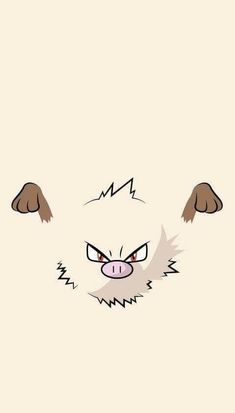 When Mankey starts shaking and its nasal breathing turns rough, it's a sure sign that it is becoming angry. However, because it goes into a towering rage almost instantly, it is impossible for anyone to flee its wrath. Pokemon Go, Pokemon Faces, Pokemon Sketch, Go Wallpaper, Disney Wallpaper, Cartoon Wallpaper, Pokemon Lock Screen, Pokemon Painting, Pokemon Backgrounds