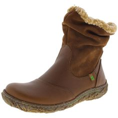 El Naturalista Womens Nido Leather Slouchy Winter Boots