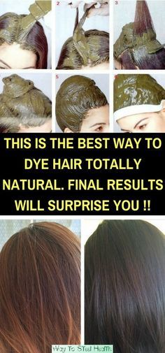 This Is The Best Way To Dye Hair Totally Natural. Final Results Will SURPRISE You! via @globalpublichealth