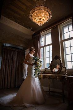Bride in wedding dress at 30 James Street Wedding Venue, Liverpool Merseyside, North West. Titanic Hotel