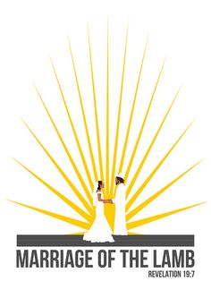 Marriage of the Lamb from Revelation.  If you like this design check out my store: www.zazzle.com/seeing_scripture*