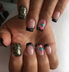 Cool Nail Art, Love Nails, Beauty Nails, Pedicure, Acrylic Nails, Nail Designs, Shapes, Instagram Posts, Tutorials