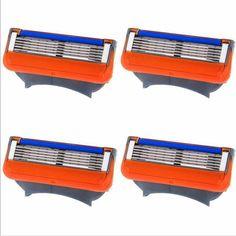 8pcs/lot Blades Shaving Razor Blades for Men Men's Fusion Power Shaver Blades Men's sh Shaving Blades for Standard for RU&Eu US