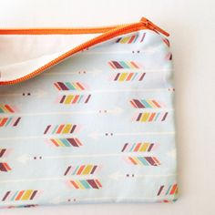 Arrow Zipper Pouch in fabric by Nadia Hassan | Dandy Wishes on Etsy
