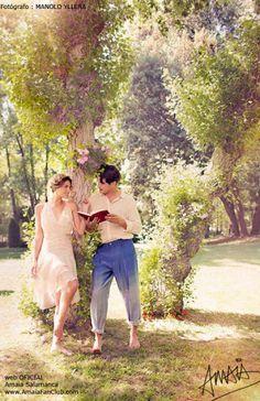 Yon González y Amaia Salamanca se alejan de su hotel, para Woman Madamme Figaro - Gran Hotel - Series de televisión