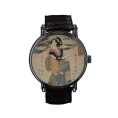 Evening Rain at Karasaki Vintage Art Watch #watches #vintage #geisha #japan #japanese