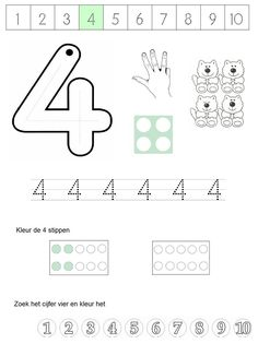 Preschool numbers between 1 and 5 line worksheet education и Numbers Preschool, Learning Numbers, Math Numbers, Preschool Math, Kindergarten Worksheets, In Kindergarten, Math Resources, Preschool Activities, Numicon