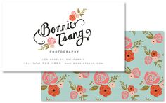 Wallpaper-patterned businesscards