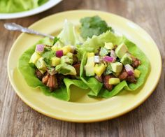 Slow-cooker carnitas lettuce wraps with pineapple and avocado salsa make a delicious and easy main dish or appetizer. http://stalkerville.net/