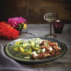 Enjoy juicy, Mexican-inspired Slow-cooked pork carnitas and find more easy… Best Slow Cooker, Slow Cooker Recipes, Crockpot Recipes, Cooking Recipes, Healthy Recipes, Chatelaine Recipes, Basmati Rice Recipes, Pork Carnitas Recipe, Slow Cooked Pork