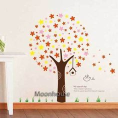 Removable Wall Sticker Stars Tree room Art Mural Decal Deco Vinyl Decor c15