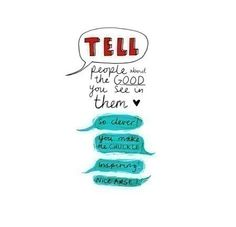 tell people