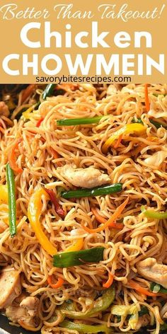 Better Than Takeout Chicken Chow Mein! - Try this best,easy and better than takeout Chicken Chow Mein recipe. If you love Chinese food then - Chicken Chow Mein Noodles Recipe, Chow Mein Sauce Recipe, Chow Mein Noodle Recipe, Chicken Noodles, Egg Noodles, Chicken Chow Mein Recipe Healthy, Best Chow Mein Recipe, Noodle Sauce Recipe, Recipes