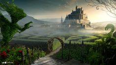 maze castle fantasy desktop 1920x1080